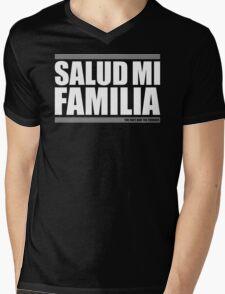 Salud Mi Familia Mens V-Neck T-Shirt