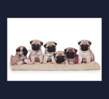Six charming pug puppy Kids Tee