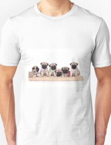 Six charming pug puppy Unisex T-Shirt
