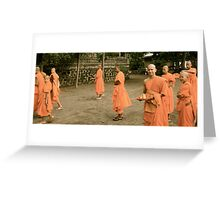 In amongst the monks Greeting Card
