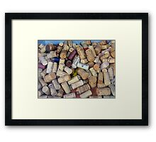 JUST WINE Framed Print
