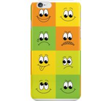 Set of faces iPhone Case/Skin