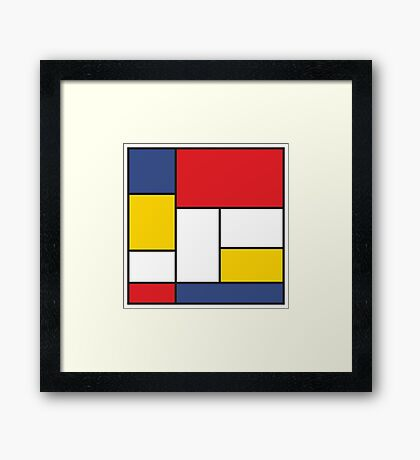 In the Style of Mondrian Framed Print
