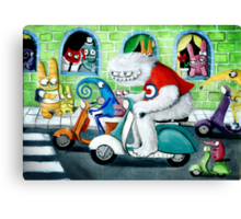 Scooter rally - Yeti and Co. Canvas Print