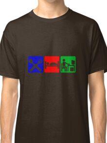 EAT SLEEP COMPUTER HACK Classic T-Shirt