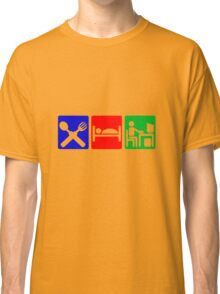 EAT SLEEP COMPUTER HACK Classic T-Shirt