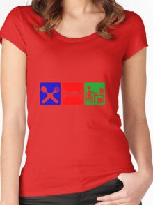 EAT SLEEP COMPUTER HACK Women's Fitted Scoop T-Shirt