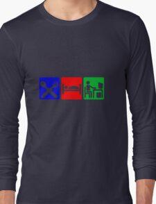 EAT SLEEP COMPUTER HACK Long Sleeve T-Shirt