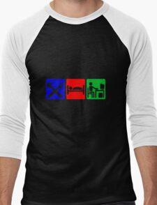 EAT SLEEP COMPUTER HACK Men's Baseball ¾ T-Shirt