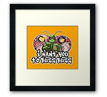 Turflytle Wants You to Buzz Buzz Framed Print