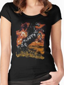 Charlie Horse T-Shirt Women's Fitted Scoop T-Shirt