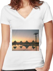 Thinking of you  Women's Fitted V-Neck T-Shirt