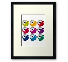 Multi colored crushed cans Framed Print