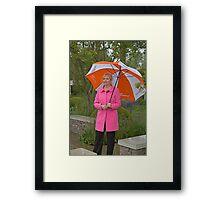Carol Kirkwood BBC weather girl Framed Print