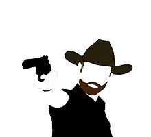 Rick Grimes Silhouette by Arnau Ros