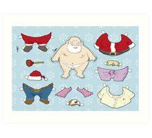 Santa Claus paper doll Art Print