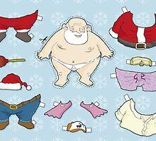 Santa Claus paper doll by JasonBronkhorst