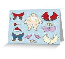 Santa Claus paper doll Greeting Card