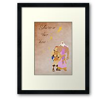 Hercules inspired Father's Day design. Framed Print