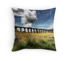 Ribblehead Viaduct, North Yorkshire Throw Pillow