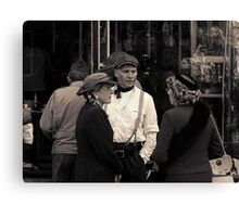 Latest News After The Air Raid Canvas Print