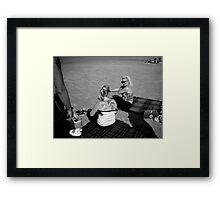 Terschelling Beach 50s Style Memories Framed Print