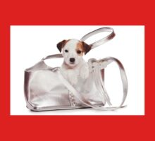 Jack Russell Terrier puppy and a bag One Piece - Short Sleeve