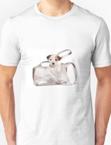 Jack Russell Terrier puppy and a bag T-Shirt