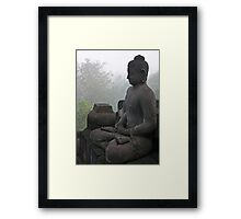 Borobudur buddha Framed Print