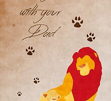 The Lion King inspired Father's Day design. by topshelf