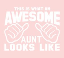 This is What an Awesome Aunt Looks Like Retro Kids Clothes