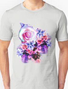 FLORAL ELECTRIC ROSE/COLLECTION Unisex T-Shirt