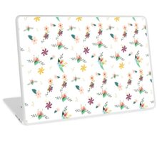 Cute girly colorful abstract floral pattern Laptop Skin