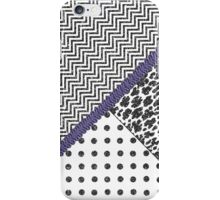 Black white fux glitter chevron animal print  iPhone Case/Skin