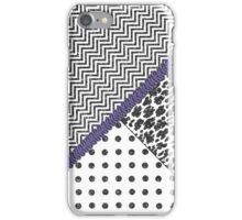 Black white fux glitter chevron animal print  iPhone Case/Skin