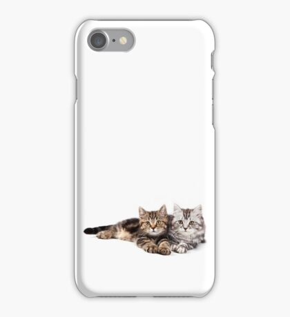 Two striped cat with big paws iPhone Case/Skin