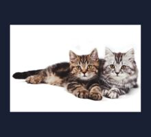 Two striped cat with big paws Kids Tee