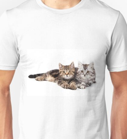 Two striped cat with big paws Unisex T-Shirt