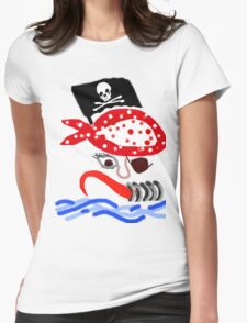 PIRATE BOLD GRAPHIC KIDS COLLECTION Womens Fitted T-Shirt