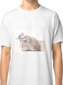 Funny striped kitten Classic T-Shirt