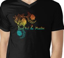 A2P Colorful Logo Mens V-Neck T-Shirt