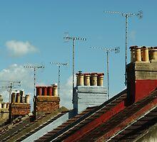 Rooftops of Worthing by George Parapadakis (monocotylidono)