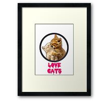 Love Cats Framed Print