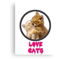 Love Cats Canvas Print