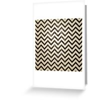 Black white gold faux leather chevron pattern Greeting Card