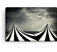 Circus with distant ships Canvas Print