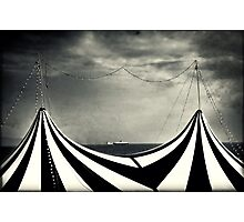 Circus with distant ships Photographic Print