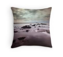 Filey Brigg, North Yorkshire Throw Pillow