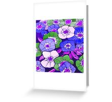 Petunias Purple & Green Greeting Card