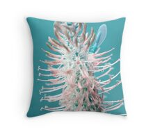 Blue Spiked Rampion (Turquoise) Throw Pillow